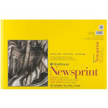 Strathmore 300 Series Rough Newsprint Paper Pad